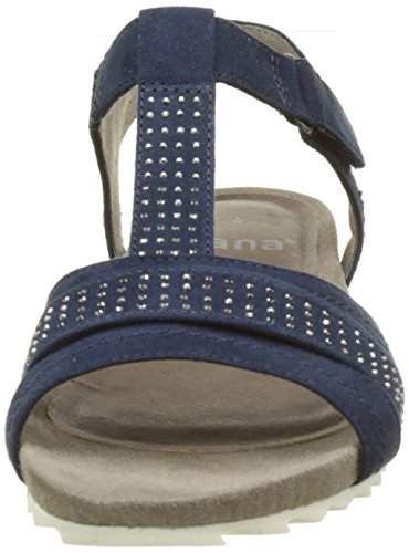 805 Bleu Des Sandales Talons Coin 7 28604 marine Royaume Au uni Jana Femmes B6ZO8qw