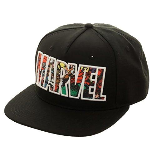 Marvel-Comic-Logo-Sublimated-Bill-Snapback-Baseball-Cap
