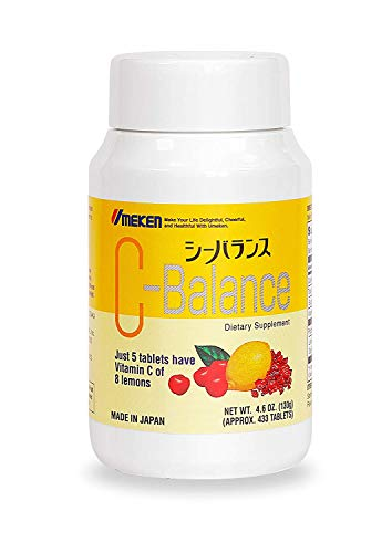 Umeken C-balance (130g) - Highly Concentrated Vitamin C containing antioxidants, citric acid, gamma-linolenic acid. Chewable, Great for kids. Made in Japan. About a 2-3 month supply. (Small size)