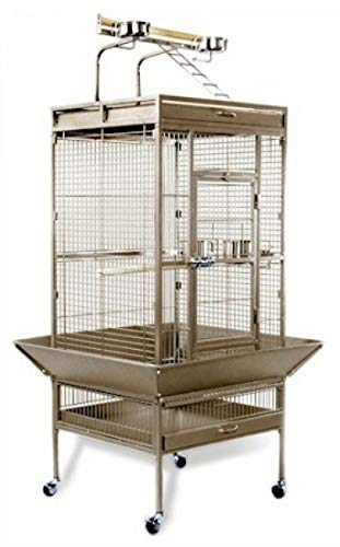 StarSun Depot Prevue Hendryx Medium Wrought Iron Select Bird Cage - Pewter ()