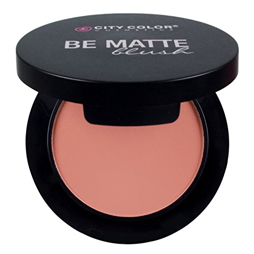 CITY COLOR COSMETICS Be Matte Blush | Blendable Mineral Makeup Powder (Guava) by City Color Cosmetics