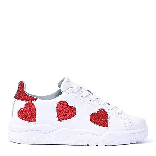 Chiara Ferragni Women's CF1913 White Leather Sneakers outlet amazing price 2015 new cheap online extremely sale online T4AZPX