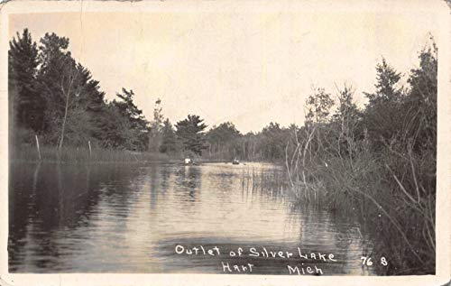 Real Photo Postcard Outlet of Silver Lake in Hart, Michigan~118479