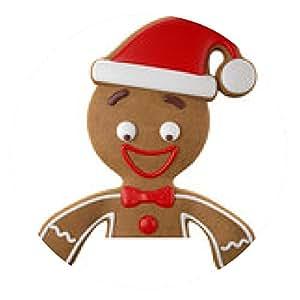 alfombrilla de ratón 3d carácter, alegre pan de jengibre, la decoración de Navidad divertida - ronda - 20cm