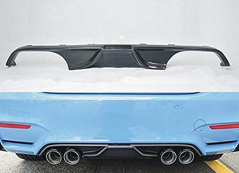 Borde de parachoques trasero de fibra de carbono para BMW M3 F80 F82 M4 Akrapovic difusor de trasera para coche Auto trasero Spoiler Lip: Amazon.es: Coche y ...