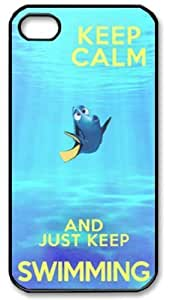 Keep Calm and Just Keep Swimming Redux Iphone 5 Case Cover New Design,best Iphone Case fell happy
