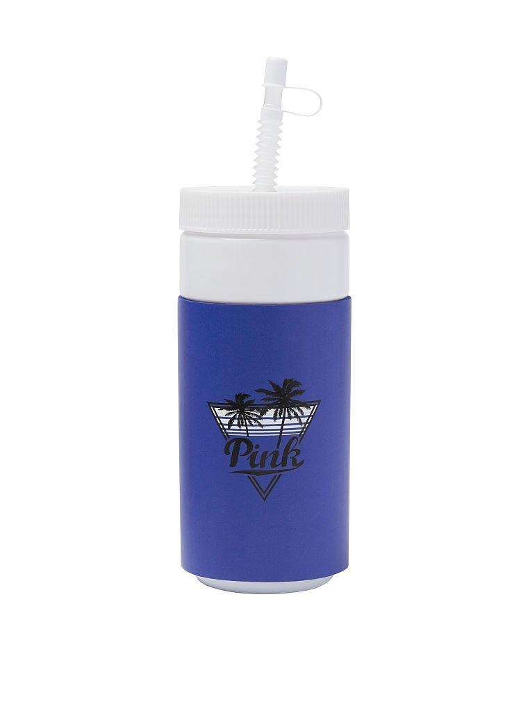 Victorias Secret PINK Spring Break Water Bottle Matisse Blue