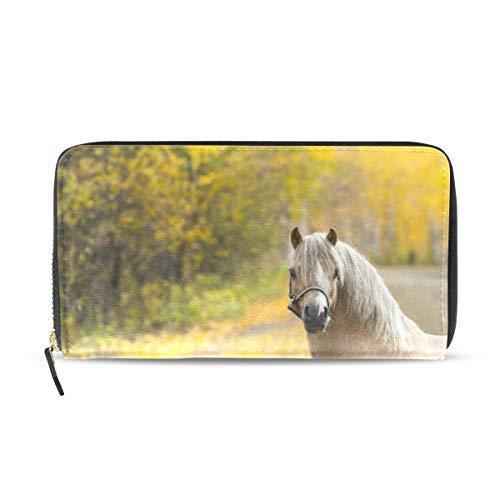 Womens Wallets Animals Horse Leather Passport Wallet Coin Purse Girls -