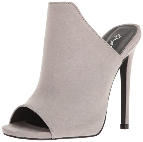 Qupid Women's Diamond-55 Mule Light Grey