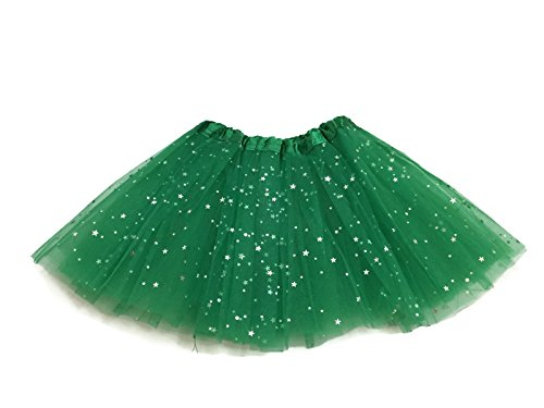 Rush Dance Ballerina Girls Dress-Up Sparkling Stars Sequins Costume Recital Tutu (Kids (2-8 Years Old), Kelly Green)