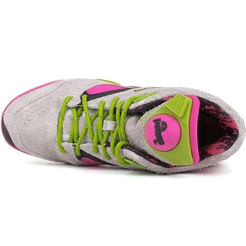 good Reebok Men s Sand Grey Pink Candy Green Court Victory Pump Sneaker US  10 b3bbeb455df0