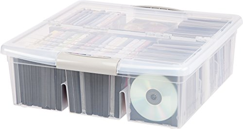 IRIS Large Divided Media Storage Box, Clear by IRIS USA, Inc. (Image #1)