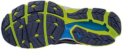 Mizuno Wave Sky, Zapatillas de Running para Hombre Peacoat/Silver/SafetyYellow