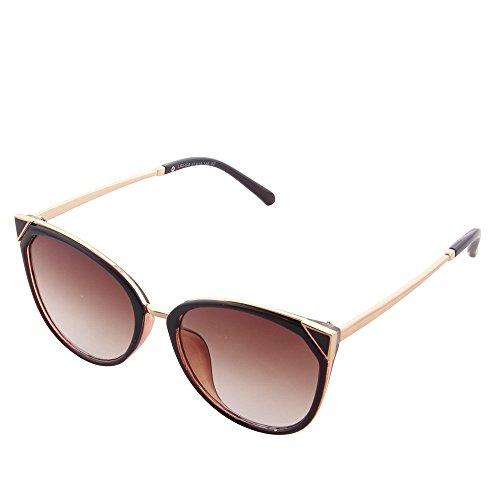 soleil miroir OGOBVCK cateye Le les Thé moderne uv400 de mode lunettes 1wqtwaB