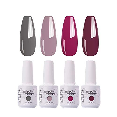 Arte Clavo Gel Nail Polish 4 Colours Set Uv Led Soak Off Nail Art Manicure Salon Set 15ml Pricepulse