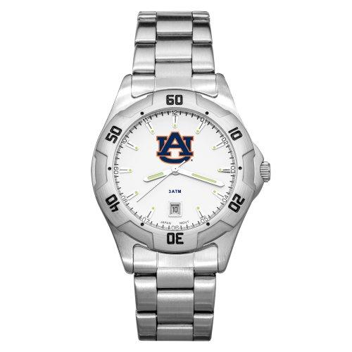 NCAA Auburn Tigers Men's All-Pro Chrome Watch by Logo Art