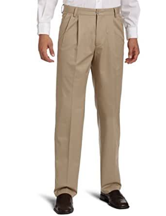 Dockers Men's Iron Free Khaki D3 Classic Fit Pleated Pant, British Khaki - discontinued, 40W x 36L
