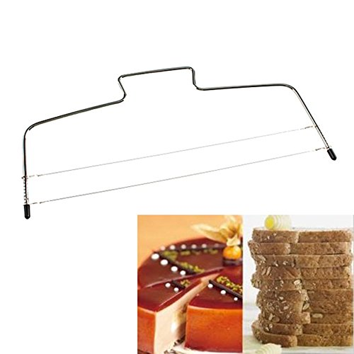 [JD Million shop 1Pcs New Stainless Steel Adjustable Wire Cake Slicer Leveler Slices Cake Cookie Cutter Kitchen Accessories Baking Pastry Tools] (Hershey Bar Costume Kids)