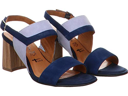 1 1 22 Bleu 801 Cheville Bride Sandales 28358 Femme Tamaris sky navy 65wpqdO6
