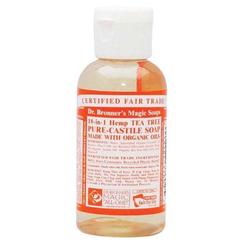 Dr. Bronner's Organic Castile Liquid Soap Liquid, Tree Tea, 2 (Tea 2 Ounce Liquid)