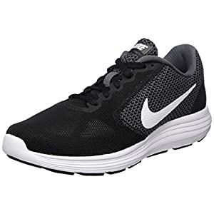 NIKE Women's Revolution 3 Running Shoe, Dark Grey/White/Black, 8.5 B(M) US