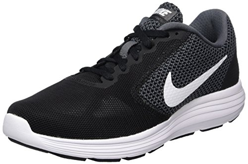 NIKE Women's Revolution 3 Running Shoe, Dark Grey/White/Black, 7.5 B(M) US