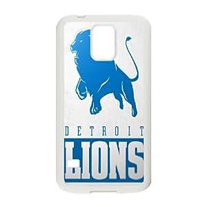 Detroit Lions Team Logo Samsung Galaxy S5 Cell Phone Case White 218y3-200392
