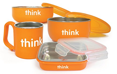 Thinkbaby Complete BPA Free Feeding Set, Orange, 6 Months (Ice Age 6 The Rise Of The Water)
