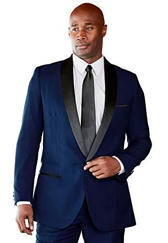 KS Signature Men's Big & Tall Tuxedo Jacket, Blue Big-52]()