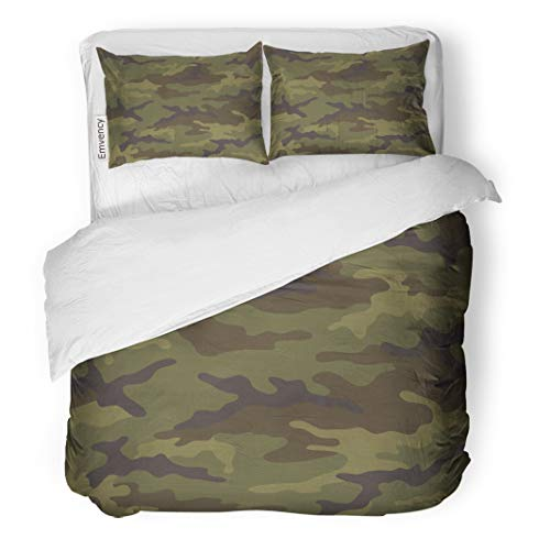 - Tarolo Bedding Duvet Cover Set Green Army Camouflage Pattern Khaki Camo Abstract Military Soldier Canvas Color 3 Piece Queen 90