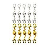 NO:1 10pcs Ball Tone Magnetic Lobster Clasps Necklace Bracelet Jewelry Clasps