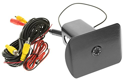 Hitch Smart (LFPartS 8 LED Lights Night Vision HD Backup Camera 170 Degree Wide Viewing Angle Car Rear View Camera Waterproof Shockproof Trailer Metal Hitch Tube Cover Fits 2