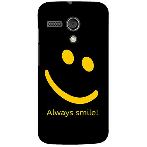 Casotec Happy Quote Design 3D Printed Hard Back Case Cover for Motorola Moto G 1st Generation