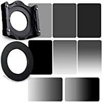 Zomei 10 in 1 Square Z-PRO Series Filter Holder Support + Adapter Ring 72mm + Full Grey ND2+ND4+ND8+ND16 + Gradual Grey ND2+ND4+ND8+ND16 150*100