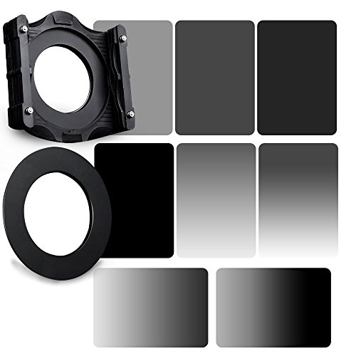 Zomei 10 in 1 Square Z-PRO Series Filter Holder Support + Adapter Ring 82mm + Full Grey ND2+ND4+ND8+ND16 + Gradual Grey ND2+ND4+ND8+ND16 150100