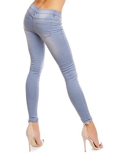 SIS Damen Jeans Hose hellblau SIS-X1313