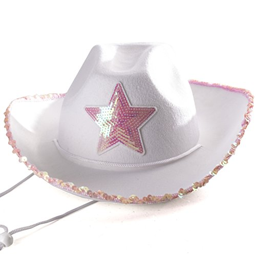 Cowgirl Costumes Adults (Cowgirl Hat - Princess Cowboy Hats for Women by Funny Party Hats)