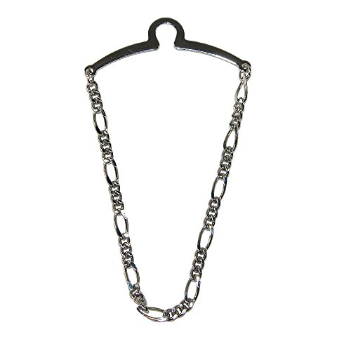 - Competition Inc. Men's Figaro Style Link Tie Chain, Silver