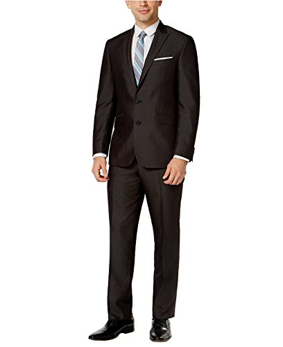 Kenneth Cole Reaction Men's Black Micro-Stripe Slim-Fit Suit