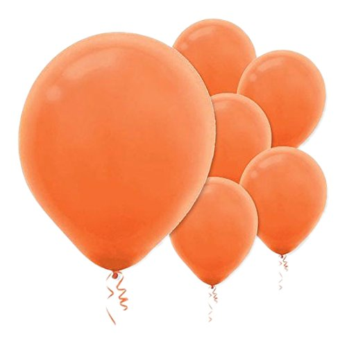 Solid Color Latex Balloons - Orange Peel, Pack