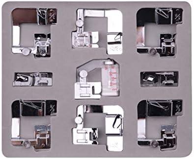 Pigup 9pcs Máquina de Coser eléctrica de Punto Rodillo prensatelas ...