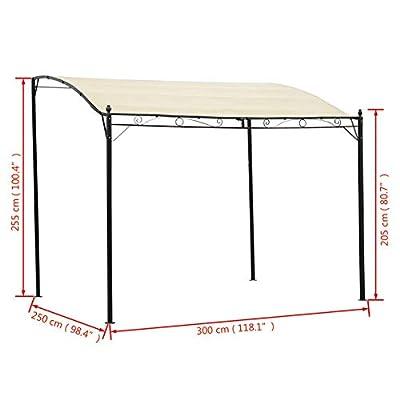 BLUECC Gazebos for Patios Fabric Cream White Outdoor Canopy 9.8' x 8.2 : Garden & Outdoor