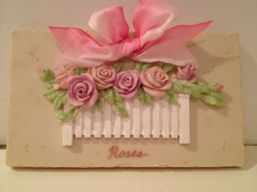Spring Bouquet Roses Picket Fence Plaque (Fence Picket Bouquet)