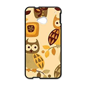 Autumn Owls HTC One M7 Cell Phone Case Black phone component RT_235226
