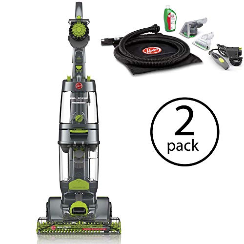 Hoover Dual Power Pro Deep Carpet Cleaner w/Accessory Pack & Dual Tanks, FH51200 (2 Pack) (Cleaner Power Brush Carpet Deep)