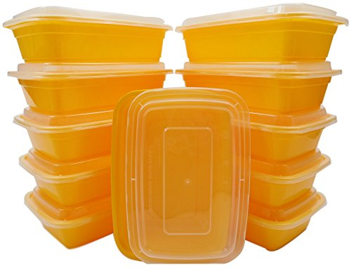 Bar Manifold 300 (Table To Go 612409787491 300-Pack Bento Lunch Boxes with Lids (1 Compartment/ 34 oz.), Microwaveable, Dishwasher & Freezer Safe Meal Prep Containers, Yellow (Pack of 300))