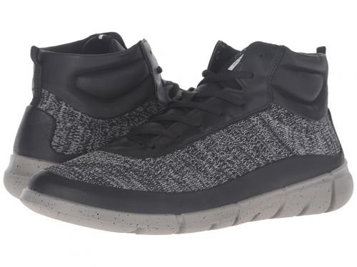ECCO Sport(エコー スポーツ) メンズ 男性用 シューズ 靴 スニーカー 運動靴 Intrinsic 1 High - Black/Concrete [並行輸入品] B07BDQGZHH
