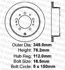 5lug Heavy Tough-Series Fits:- Lexus Toyota 2 Silver Coated Cross-Drilled Disc Brake Rotors 4 Semi-Metallic Pads Rear Kit