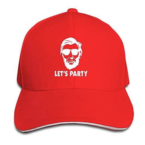 SFSDFS Snapback Cap Let's Party Abraham Lincoln Flat Bill Hats Adjustable Baseball Caps for Men/Women
