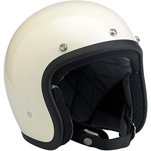 (Biltwell Bonanza Half Helmet (Gloss Vintage White, X-Large))